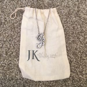 "JK by Thirty-One Initial Necklace - ""J"" in Silver"